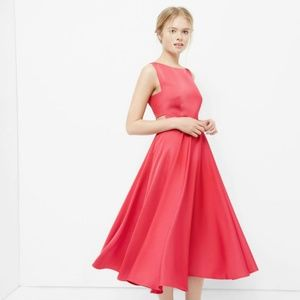 Ted Baker Pink Cut-out Full Midi Dress 0